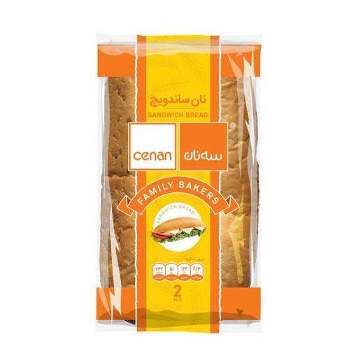 نان ساندویچ 2 تایی سه نان